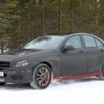 Next Mercedes-Benz C-Class spotted in the snow