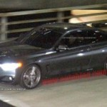BMW 4 Series production coupe caught on commercial shoot
