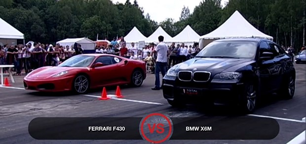 Ferrari F430 vs BMW X6M620x433 Ferrari F430 Vs BMW X6M In A Drag Race