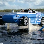 The high-speed sports car that turns into a boat at the touch of a button