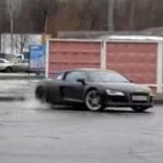 Russian Driver Doing Circles with an Audi R8